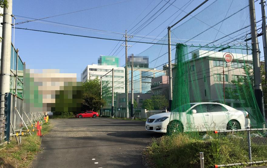 ある工事工事現場の駐車場