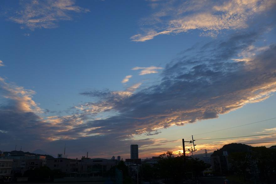ある日の幻想的な空模様