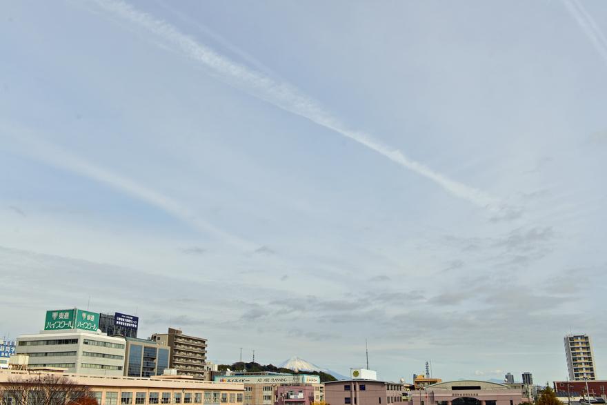 静岡市内の空模様