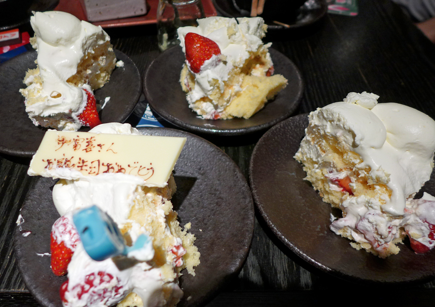 サプライズ誕生日ケーキ
