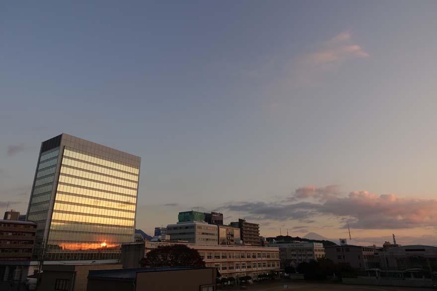 今朝の空模様