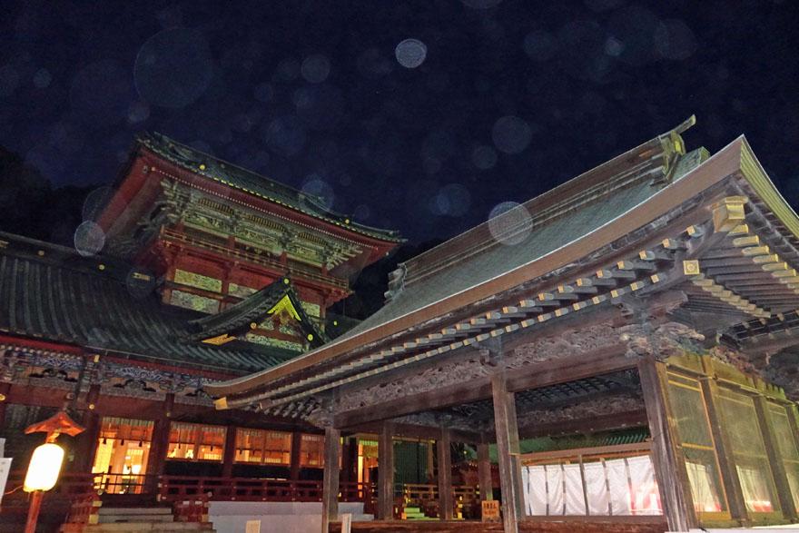 静岡浅間神社とオーブ