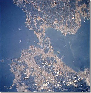 300px-Kanmon_Straits_from_space_cropped_rotated_90_degrees_CCW